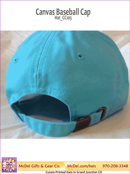 Custom-Printed Canvas Baseball Cap