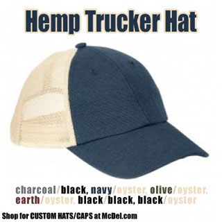 Hat - Hemp Washed Soft Mesh Trucker