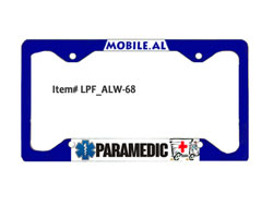 License Plate Frame - White Gloss Aluminum