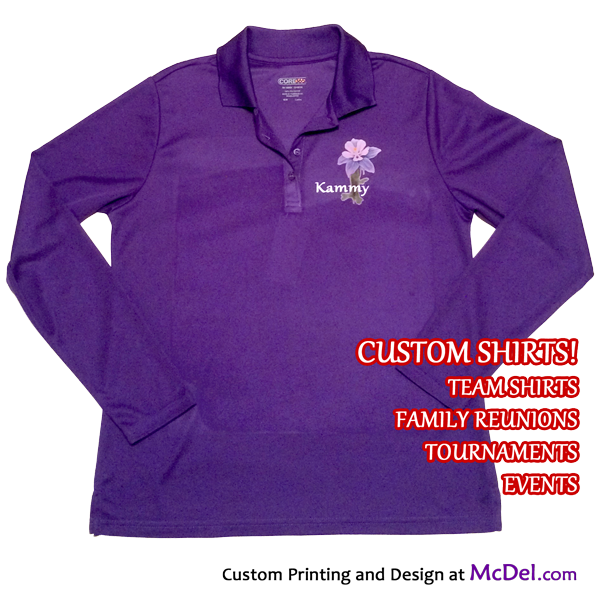 Polo/Team Shirt - long-sleeved - Core Performance