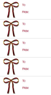 Gift Tags Bow