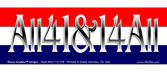 Bumper Sticker All for One & One for All