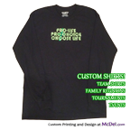Custom-printed dark T-Shirt - long sleeves