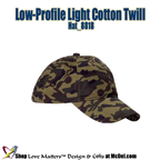 Custom-Printed Low-Profile Light Cotton Twill - unst.