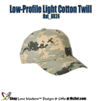 Custom-Printed Low-Profile Light Cotton Twill - strct.