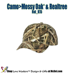 Custom-Printed Hat Mossy Oak® + Realtree Camo