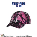 Custom-Printed Cap Camo>Pinks