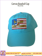 LM Flag-In God We Trust Canvas Baseball Cap
