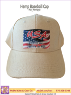 LM Flag-USA-Liberty - Hemp Baseball Cap