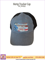 LM Flag-One Nation - Hemp Trucker Hat