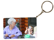 "Key Chain - 1"" drop - 2x3.33 w/black edge"