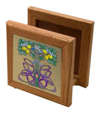 "Napkin Holder - Wood/6"" tiles"